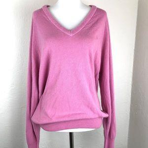 Christian Dior V Neck Sweater Pink Large